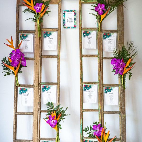 Location décoration mariage Volet en bois